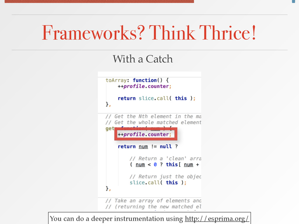 Frameworks? Think Thrice! With a Catch You can ...