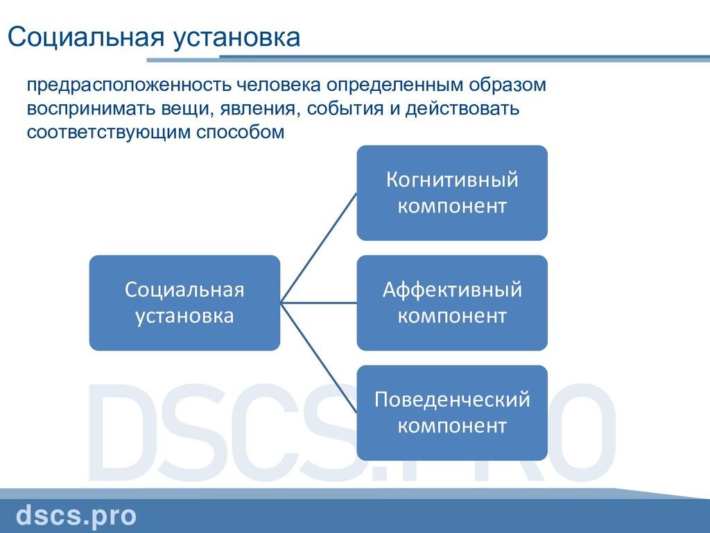 DSCS.PRO Социальная установка dscs.pro предрасп...