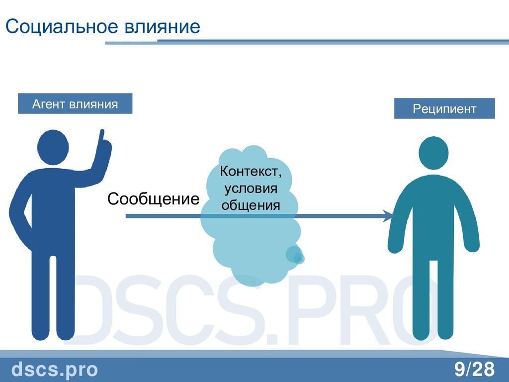 DSCS.PRO 9/28 Социальное влияние dscs.pro Агент...