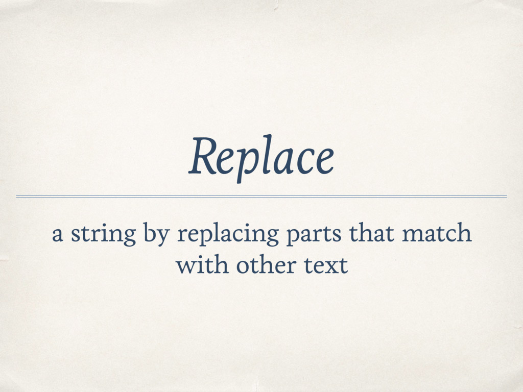 Replace a string by replacing parts that match ...