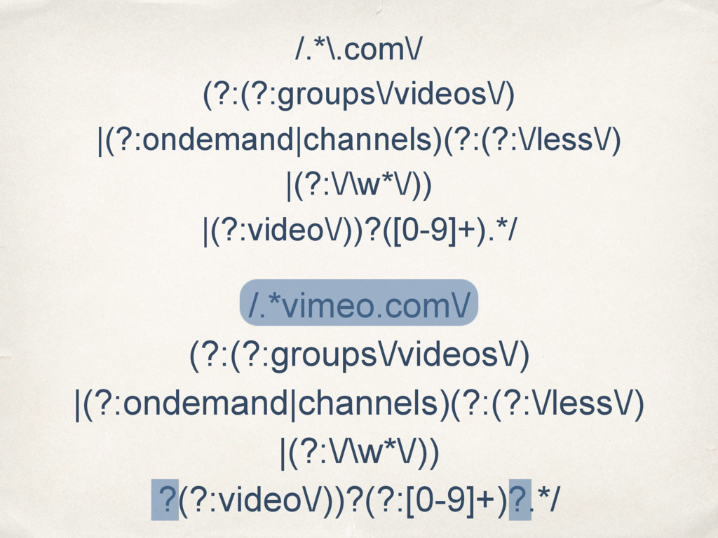 /.*\.com\/ (?:(?:groups\/videos\/) |(?:ondemand...
