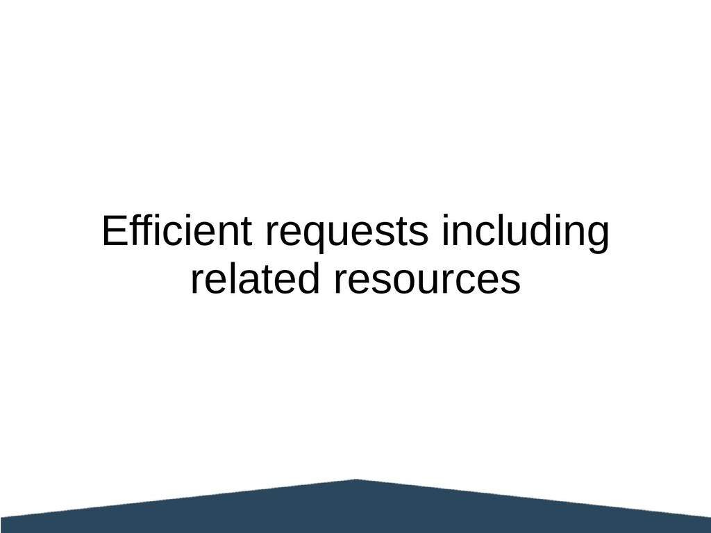 Efficient requests including related resources