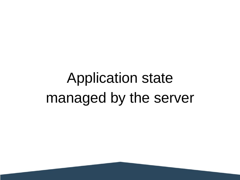 Application state managed by the server