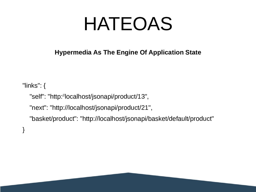 "Hypermedia As The Engine Of Application State ""..."