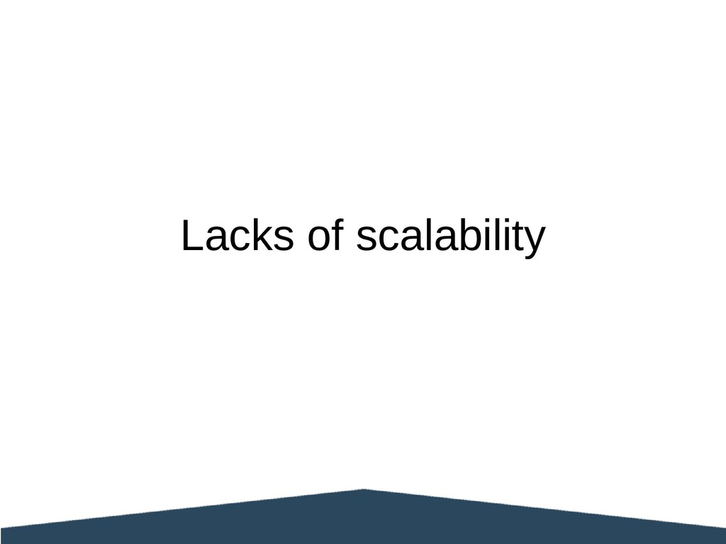 Lacks of scalability
