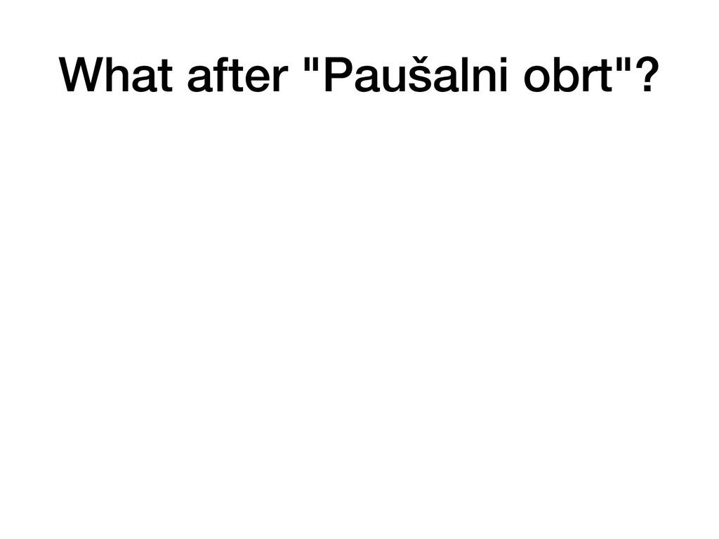 "What after ""Paušalni obrt""?"