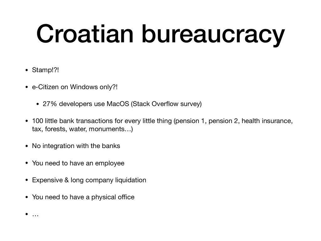 Croatian bureaucracy • Stamp!?!  • e-Citizen on...