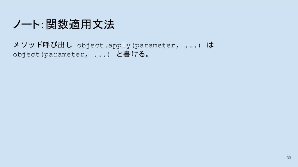 ノート:関数適用文法 メソッド呼び出し object.apply(parameter, ......