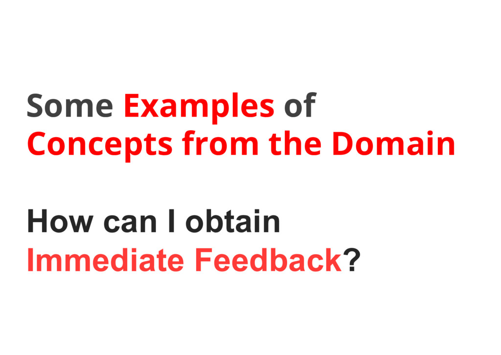 Some Examples of Concepts from the Domain How c...