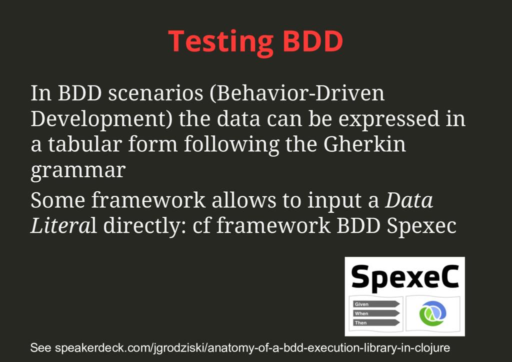 Testing BDD In BDD scenarios (Behavior-Driven D...