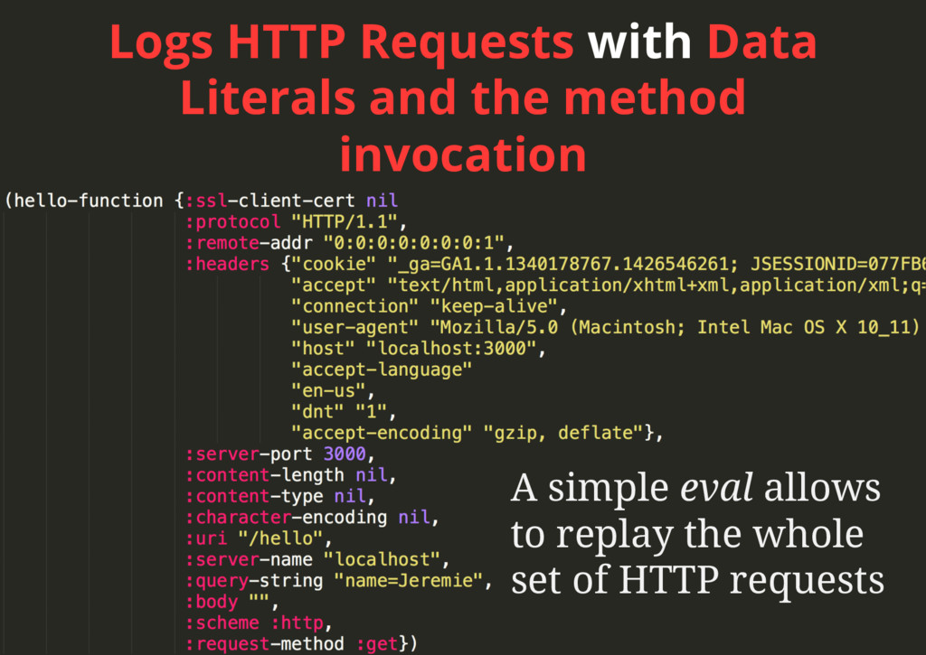 Logs HTTP Requests with Data Literals and the m...