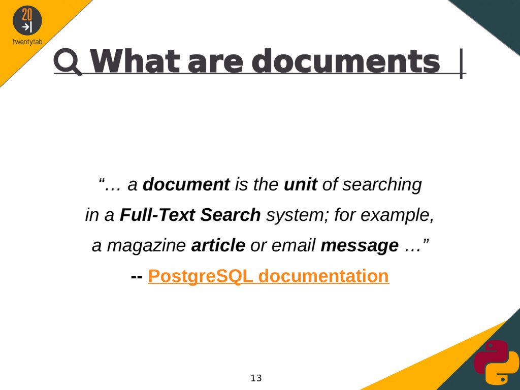 """ What are documents 