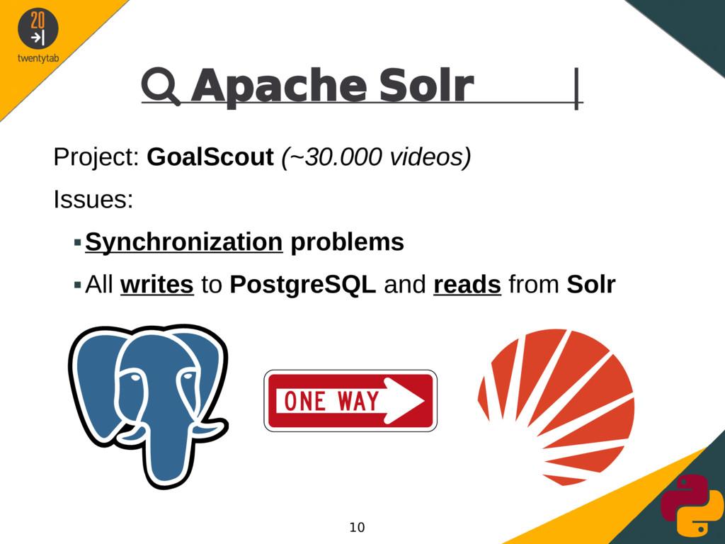  Apache Solr | Project: GoalScout (~30.000 vid...