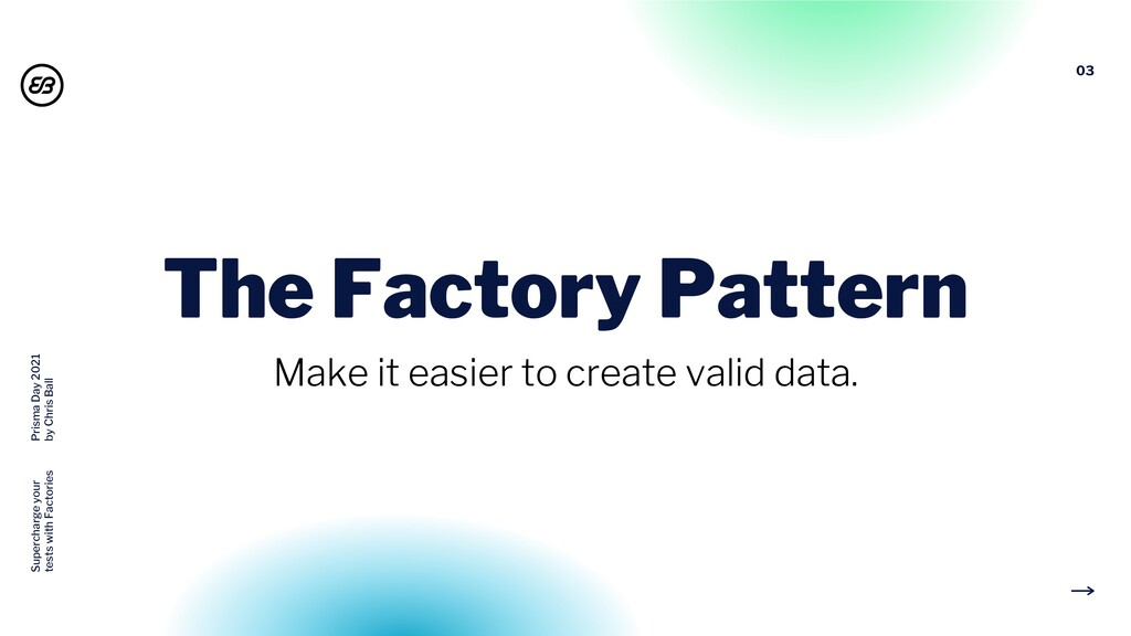 03 The Factory Pattern Make it easier to create...