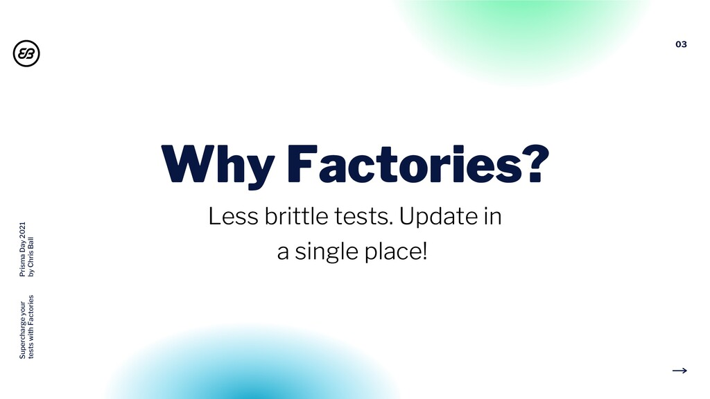 03 Why Factories? Less brittle tests. Update in...