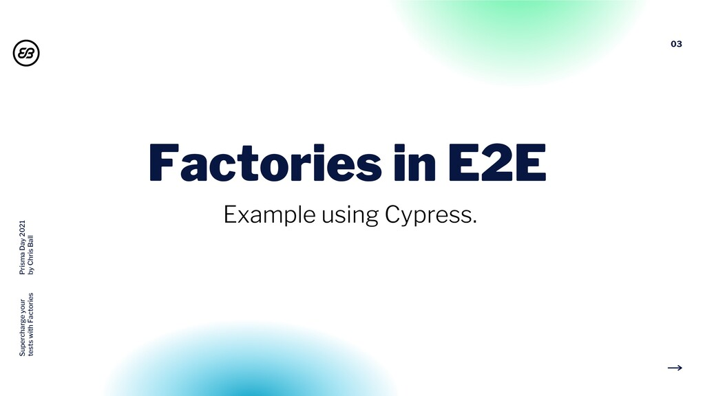03 Factories in E2E Example using Cypress. Supe...