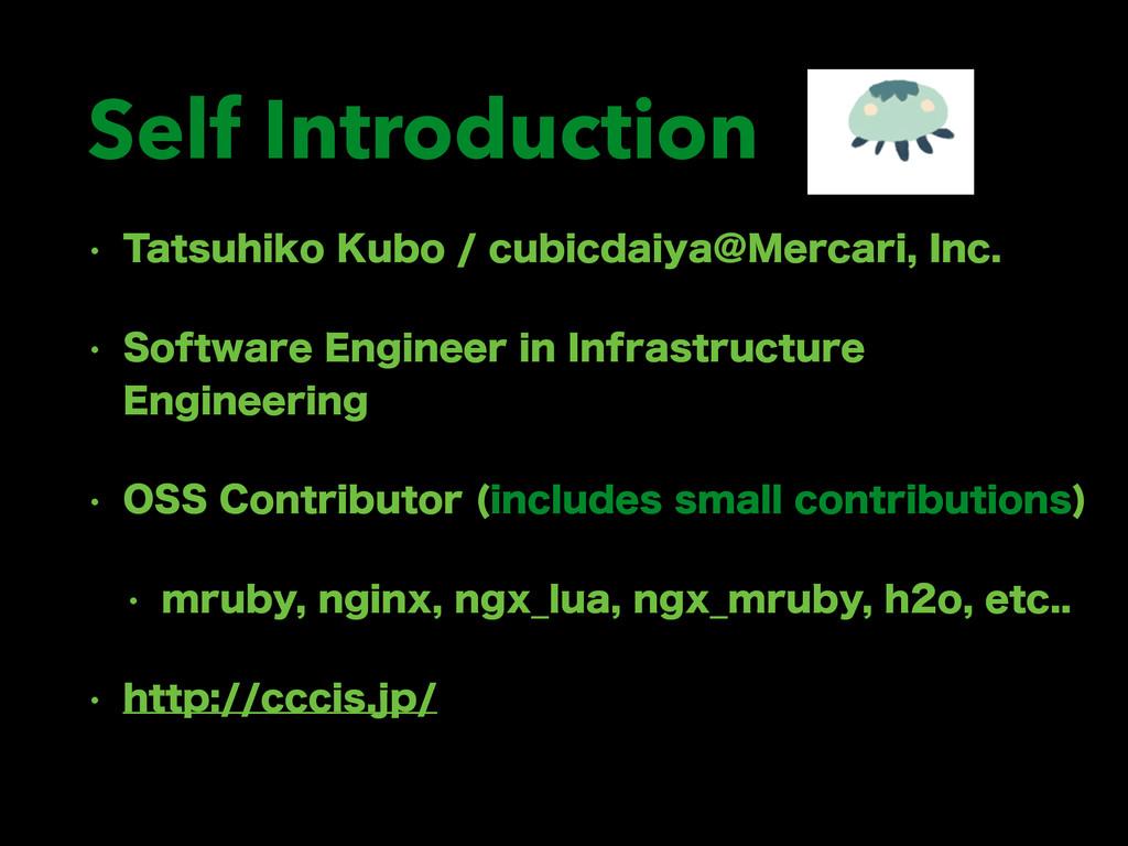 Self Introduction w 5BUTVIJLP,VCPDVCJDEBJZB...