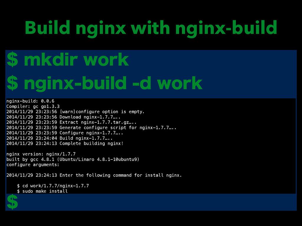 Build nginx with nginx-build NLEJSXPSL OH...