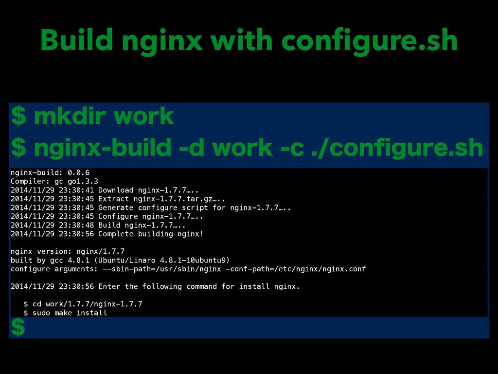 Build nginx with configure.sh NLEJSXPSL OH...