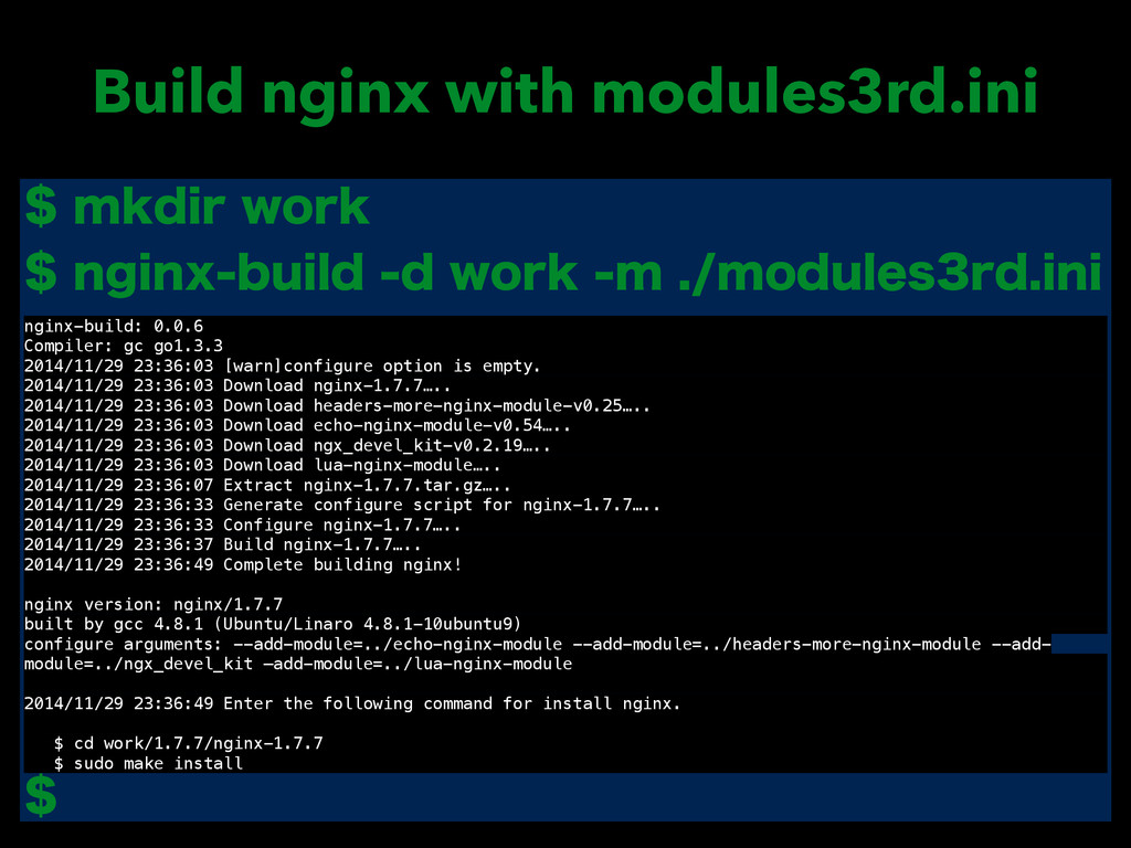Build nginx with modules3rd.ini NLEJSXPSL ...