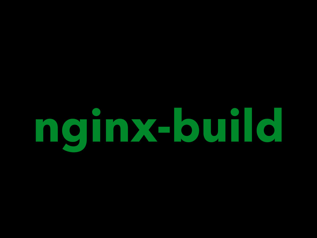 nginx-build