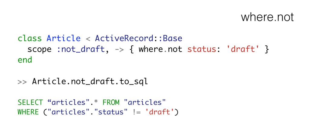 where.not class Article < ActiveRecord::Base sc...