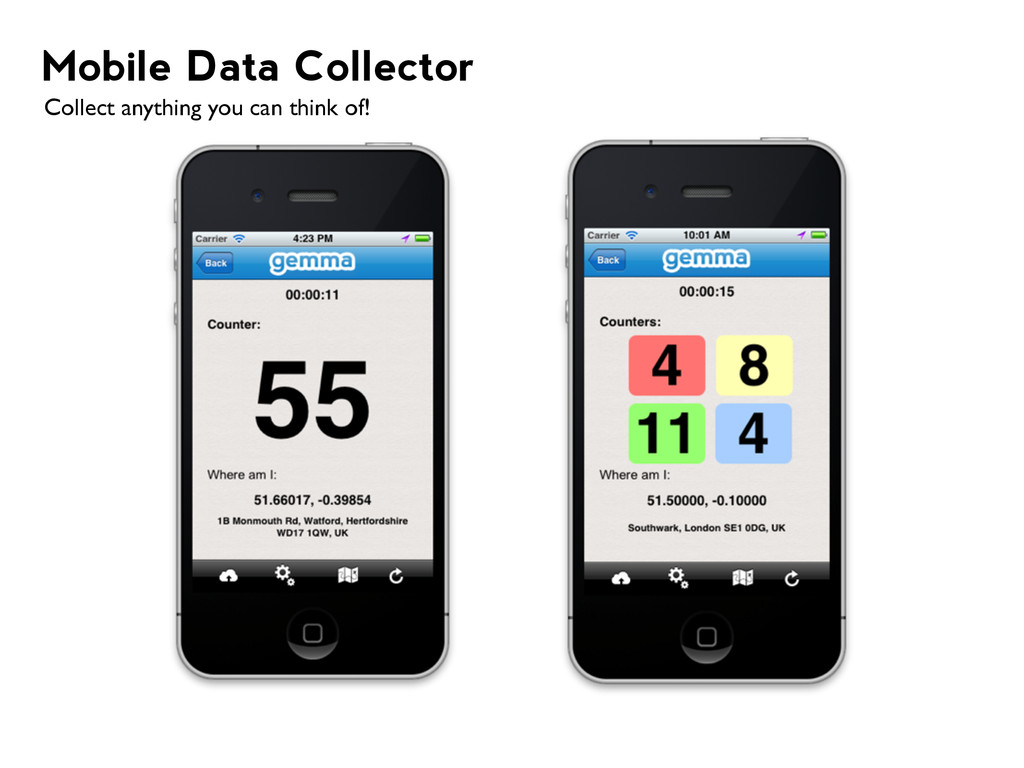 Mobile Data Collector Collect anything you can ...