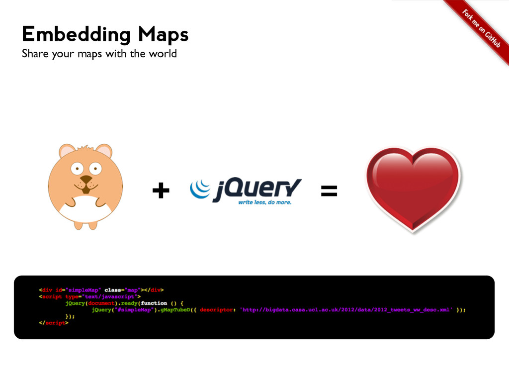 + = Embedding Maps Share your maps with the wor...
