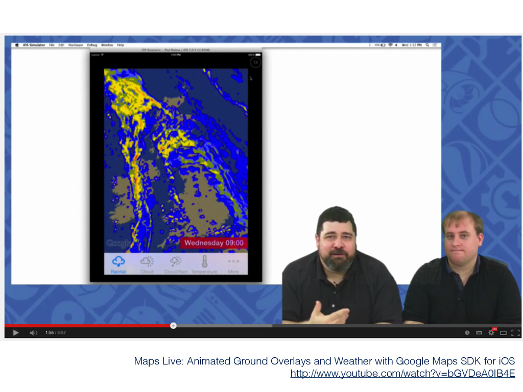 Maps Live: Animated Ground Overlays and Weather...