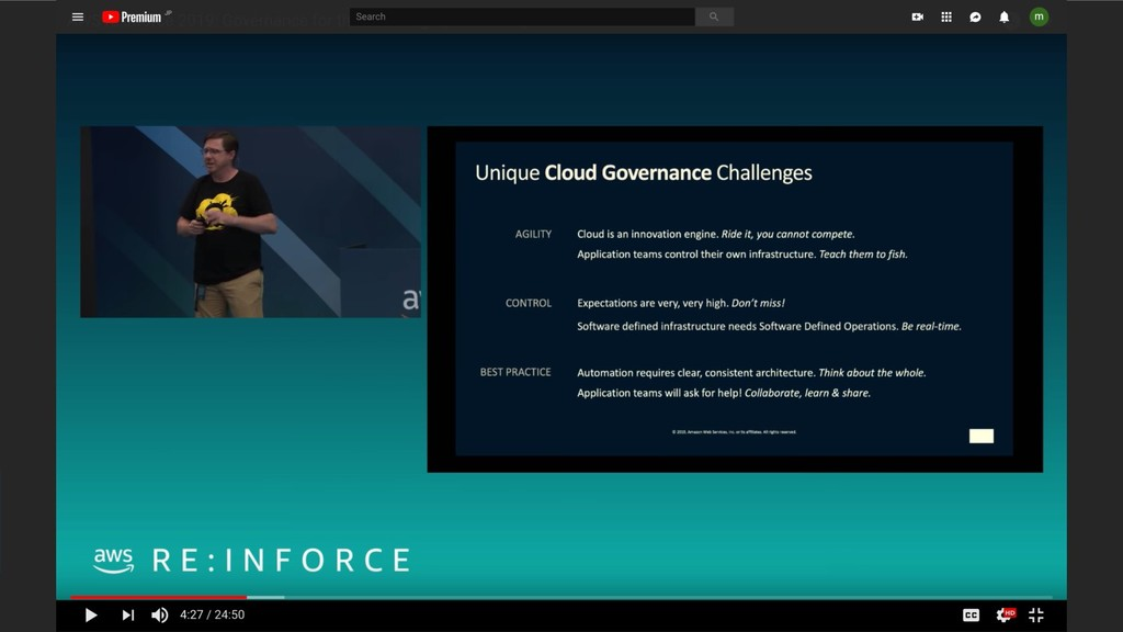 SUPINF Inc 23 AWS re:Inforce 2019: Governance f...
