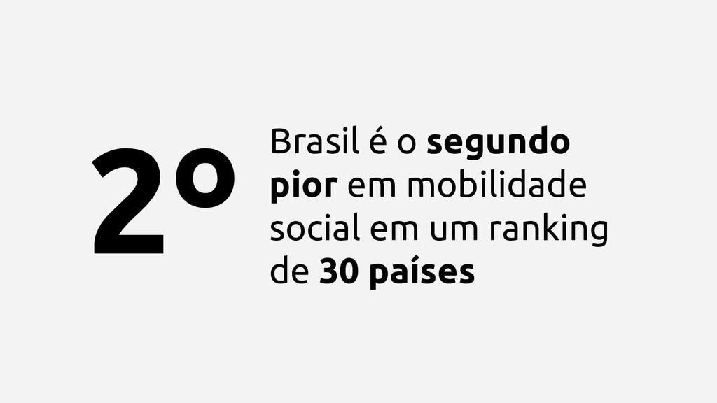 Brasil é o segundo pior em mobilidade social em...