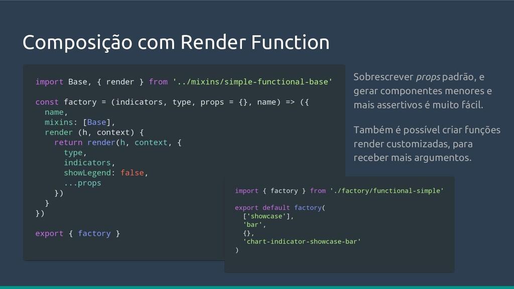 Composição com Render Function Sobrescrever pro...