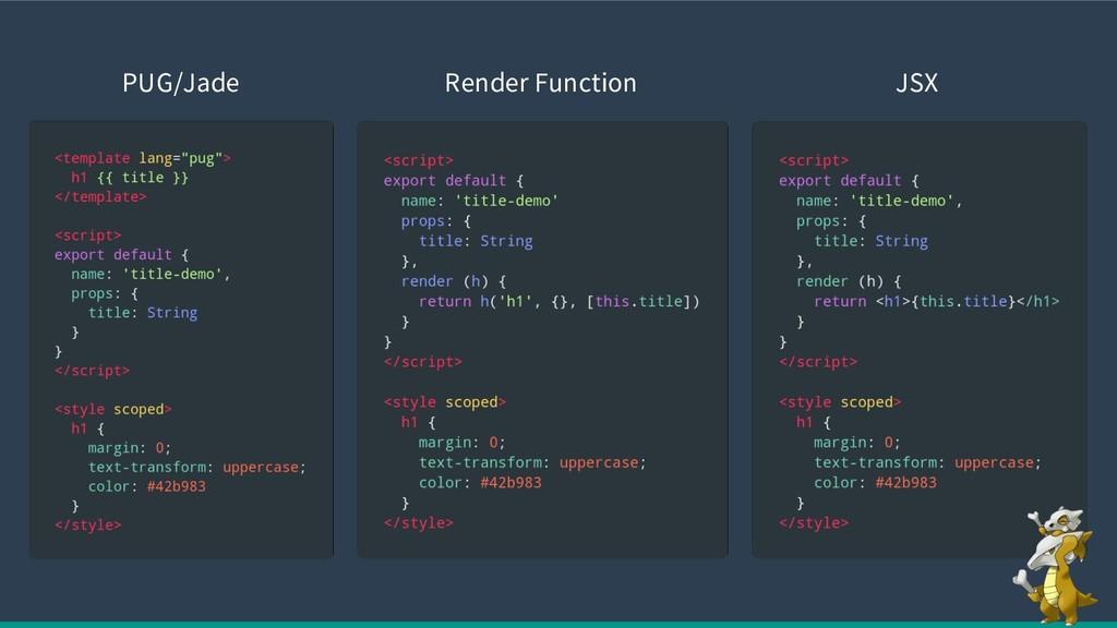 PUG/Jade Render Function JSX