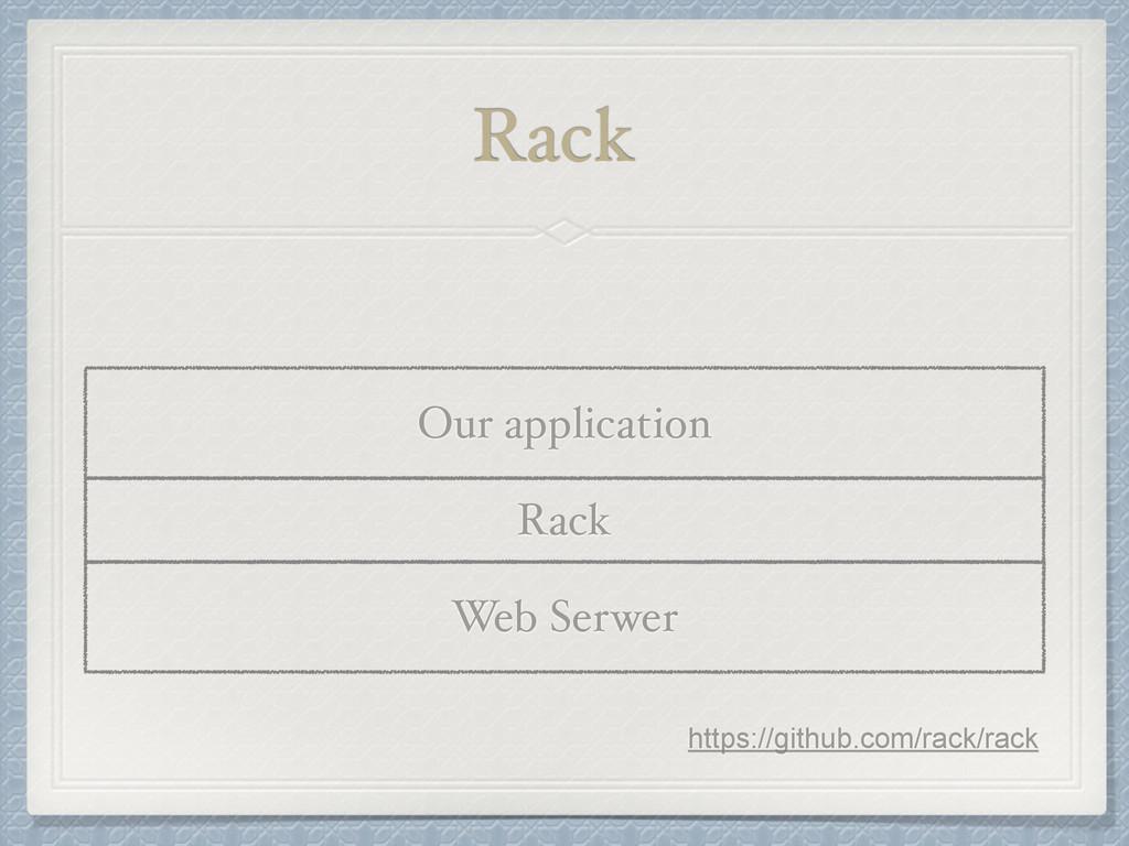 Rack Rack Web Serwer Our application https://gi...