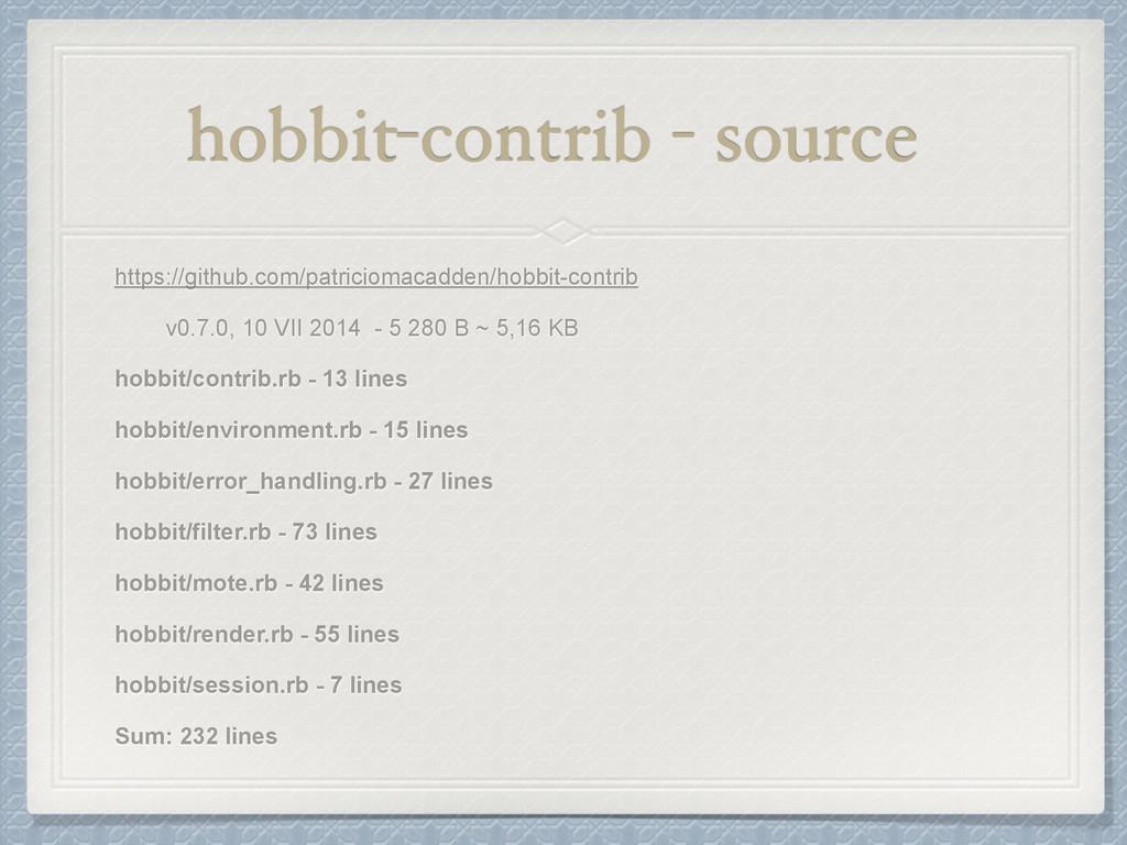 hobbit-contrib - source https://github.com/patr...