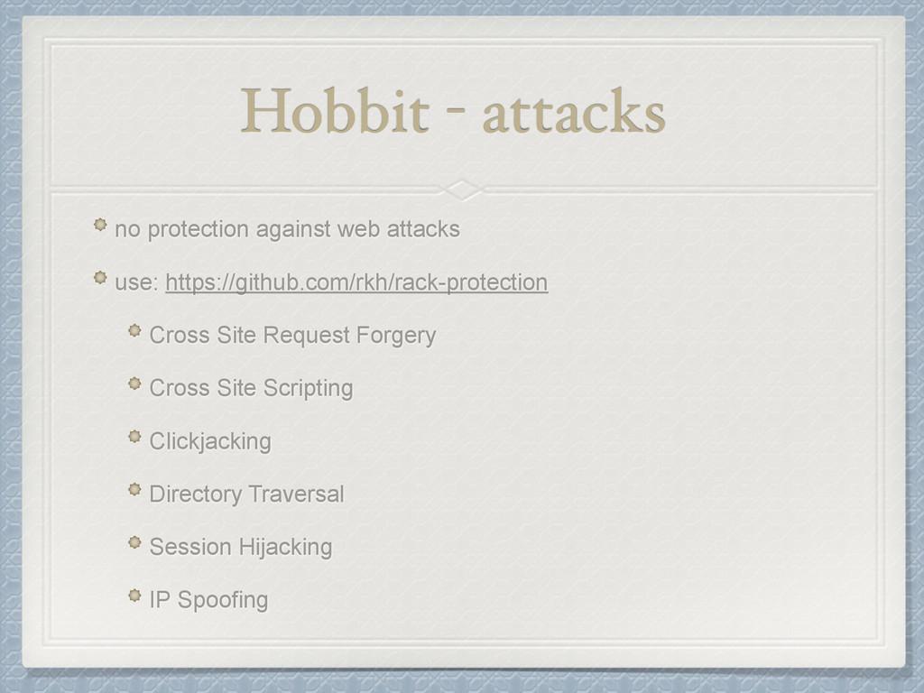 Hobbit - attacks no protection against web atta...