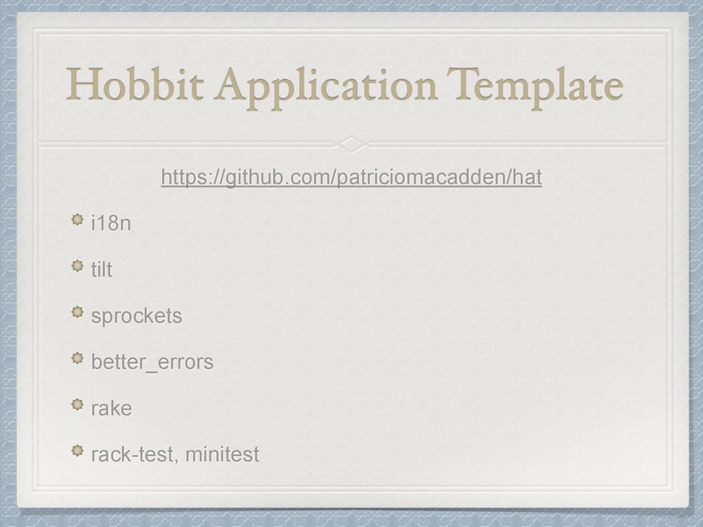 Hobbit Application Template https://github.com/...