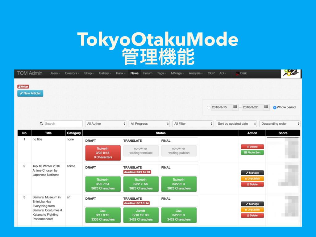 TokyoOtakuMode ཧػ