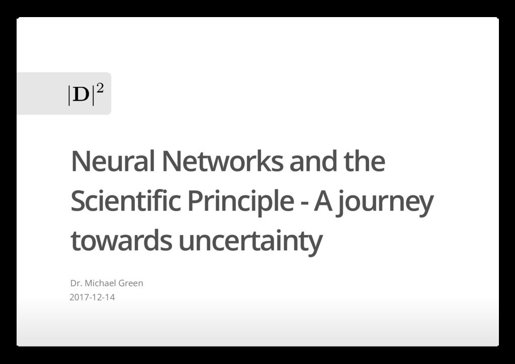 Neural Networks and the Scientific Principle - ...