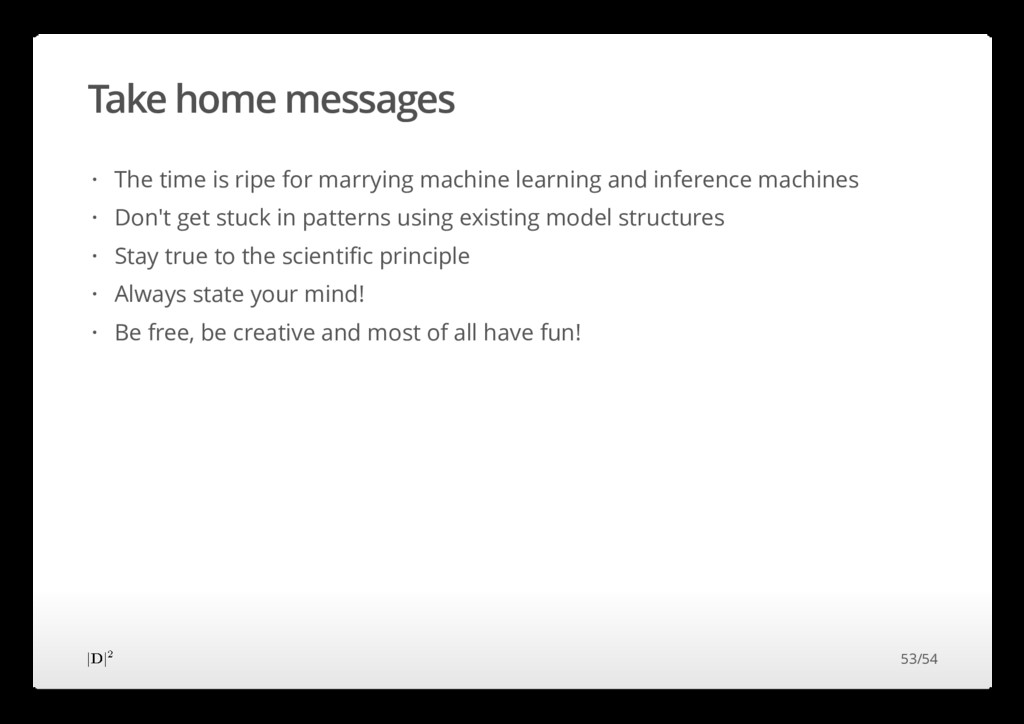 Take home messages The time is ripe for marryin...