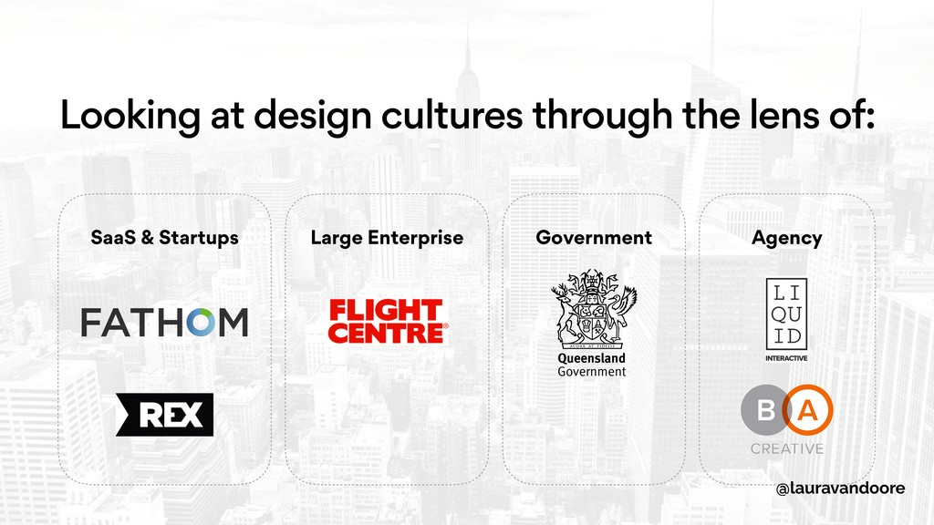 Looking at design cultures through the lens of:...