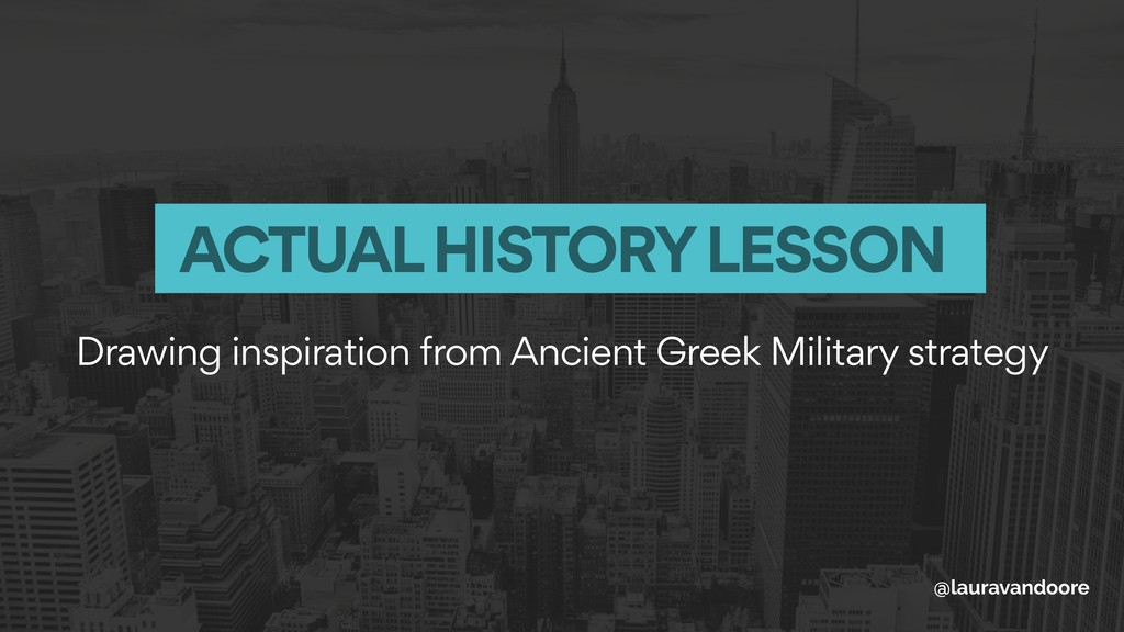 Drawing inspiration from Ancient Greek Military...