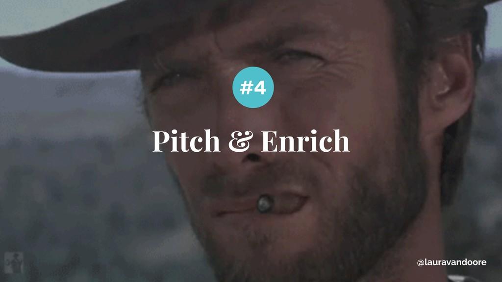 Pitch & Enrich #4 @lauravandoore