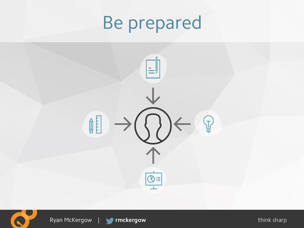 think sharp rmckergow Ryan McKergow | Be prepar...
