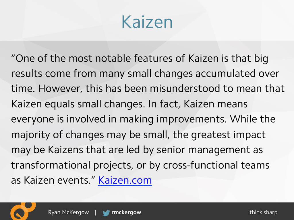 "think sharp rmckergow Ryan McKergow | Kaizen ""O..."