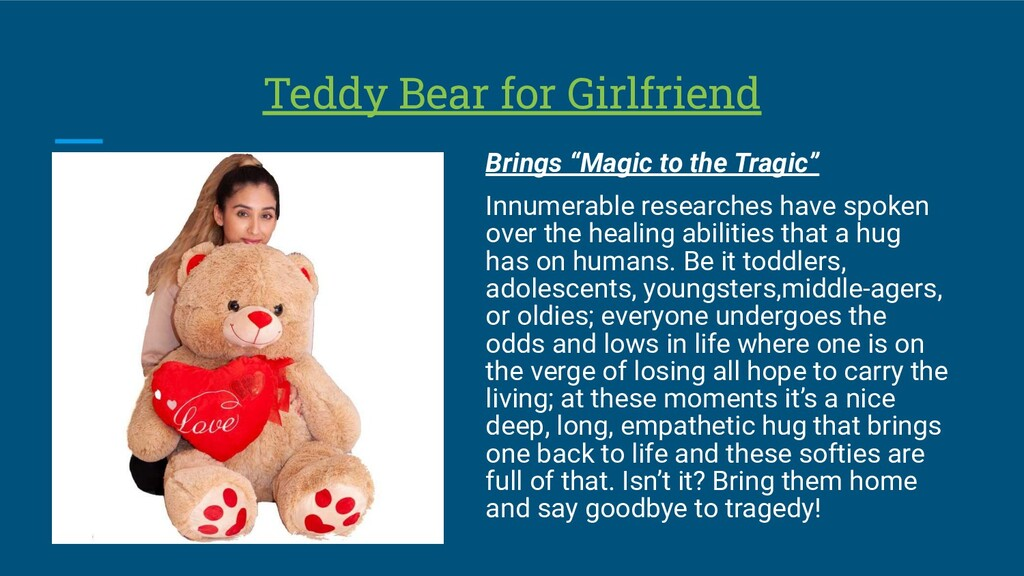 "Teddy Bear for Girlfriend Brings ""Magic to the ..."
