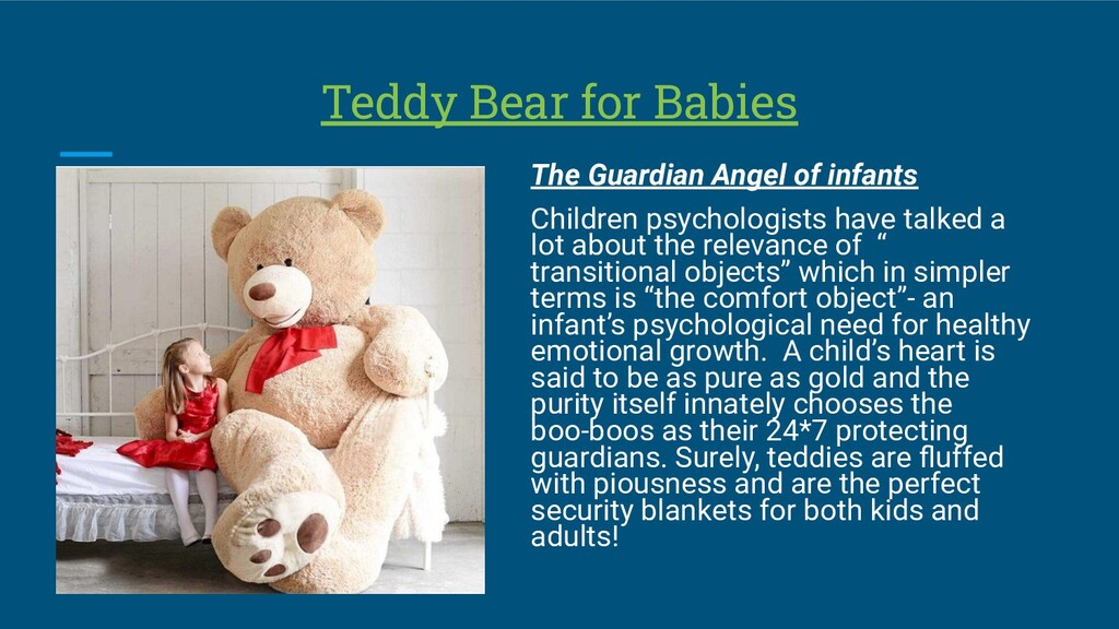 Teddy Bear for Babies The Guardian Angel of inf...