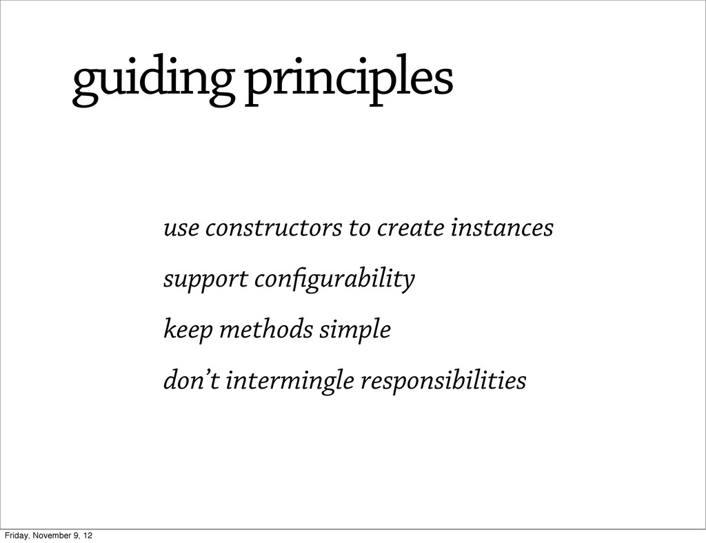 use constructors to create instances support co...