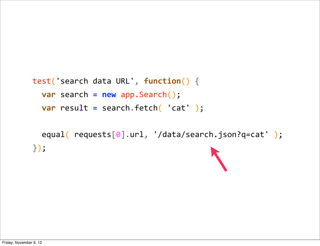 test('search data URL', function() ...