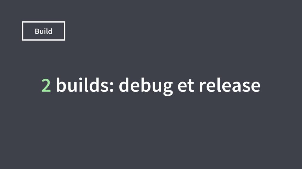 Build 2 builds: debug et release